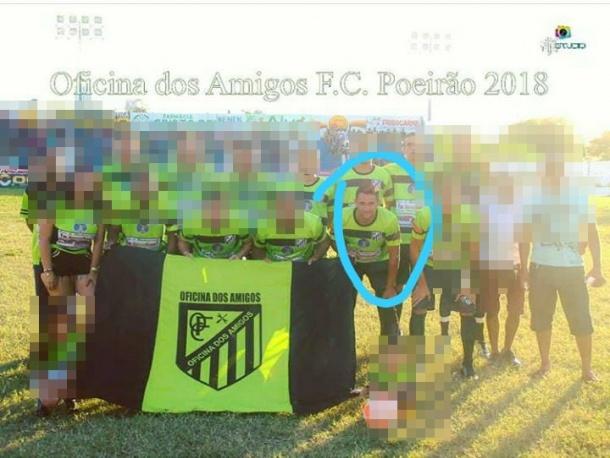 A equipe que Cosmo jogava foi campeã do Poeirão no ano passado